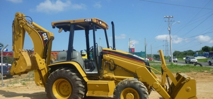 CAT 416D Baggerlader Caterpillar Backhoe Loader CAT Baumaschinen gebraucht Bagger Lader